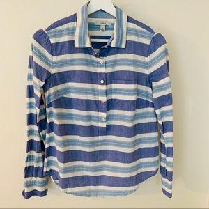[JCrew] Pop-over Stripe Button Down Shirt XS / 0